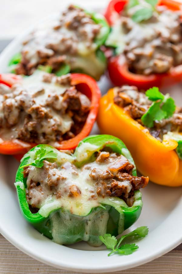 Low Carb Dinner  low carb mexican stuffed peppers Healthy Seasonal Recipes