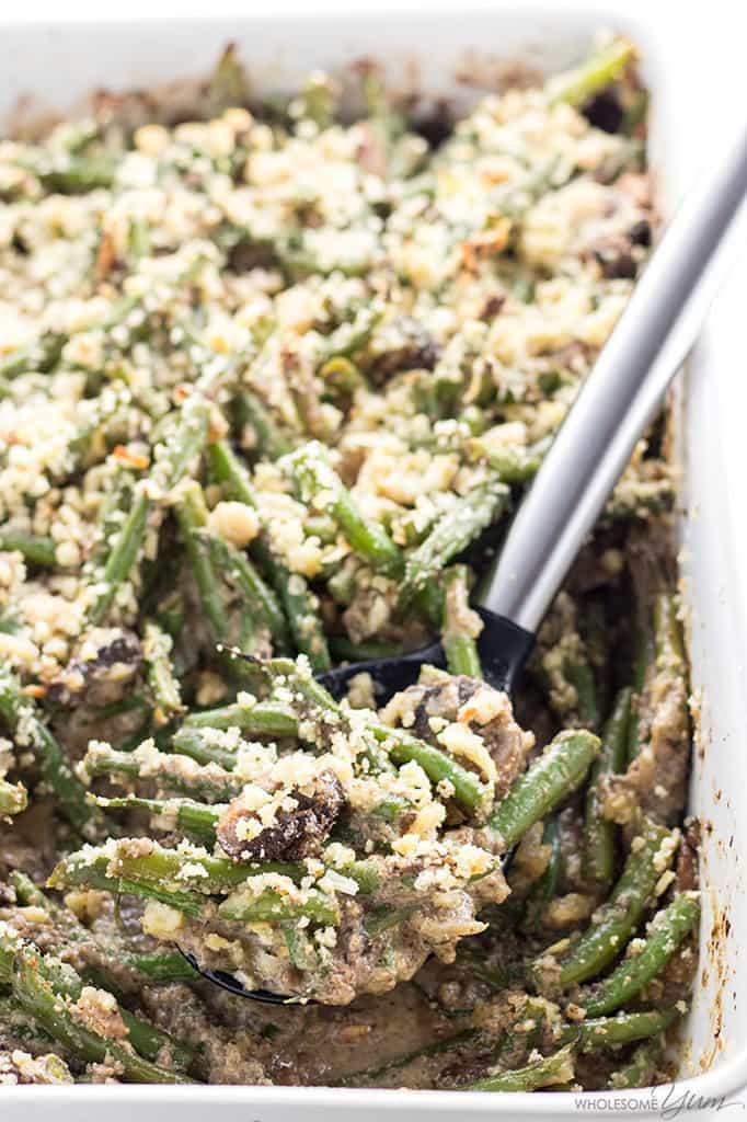 Low Carb Green Bean Casserole  Low Carb Gluten Free Green Bean Casserole Recipe Quick