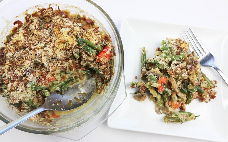Low Carb Green Bean Casserole  Easy Diabetic Friendly Low Carb Green Bean Casserole Recipe