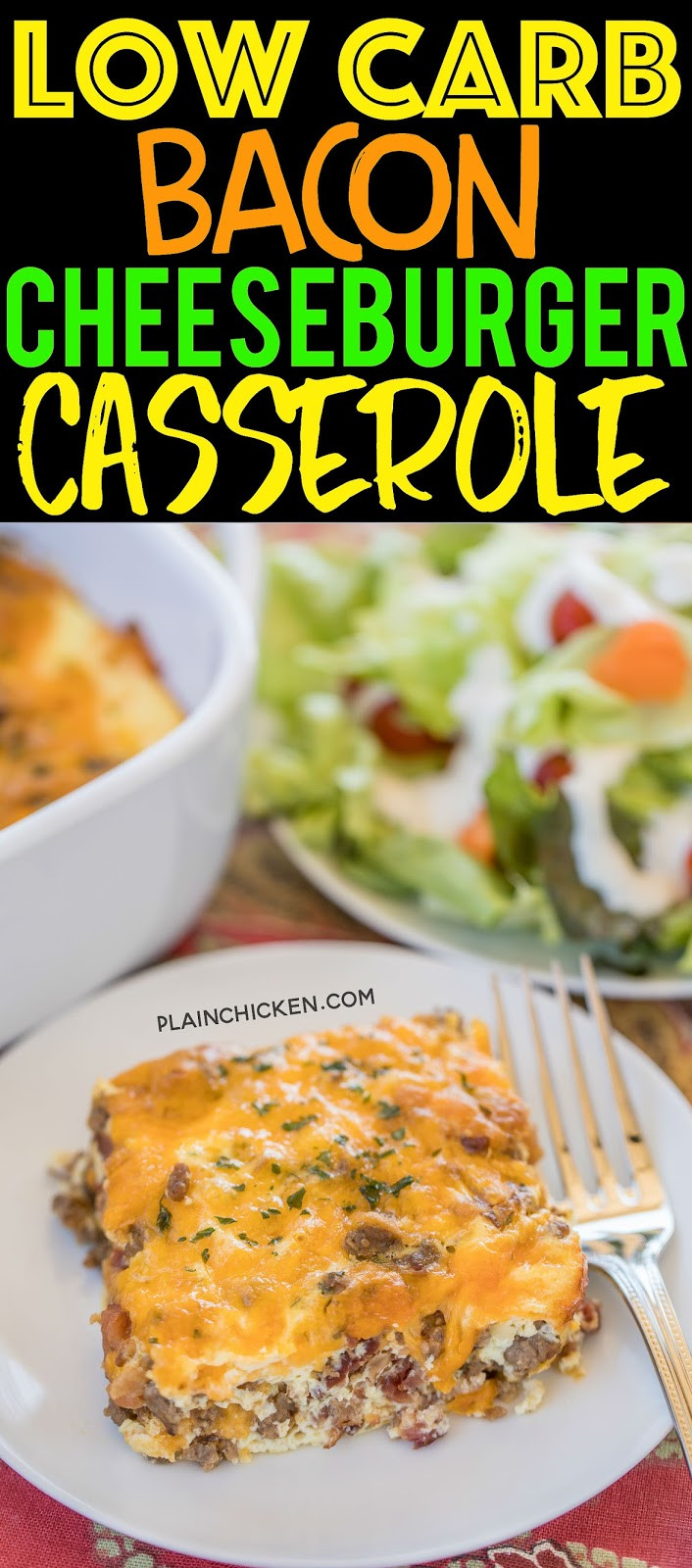 Low Carb Ground Beef Recipes Cream Cheese  Low Carb Bacon Cheeseburger Casserole