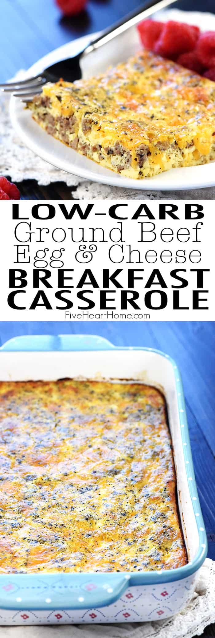 Low Carb Ground Beef Recipes Cream Cheese  Ground Beef Egg & Cheese Breakfast Casserole