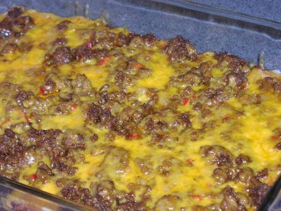 Low Carb Ground Beef Recipes Cream Cheese  Low Carb Taco Bake Ingre nts