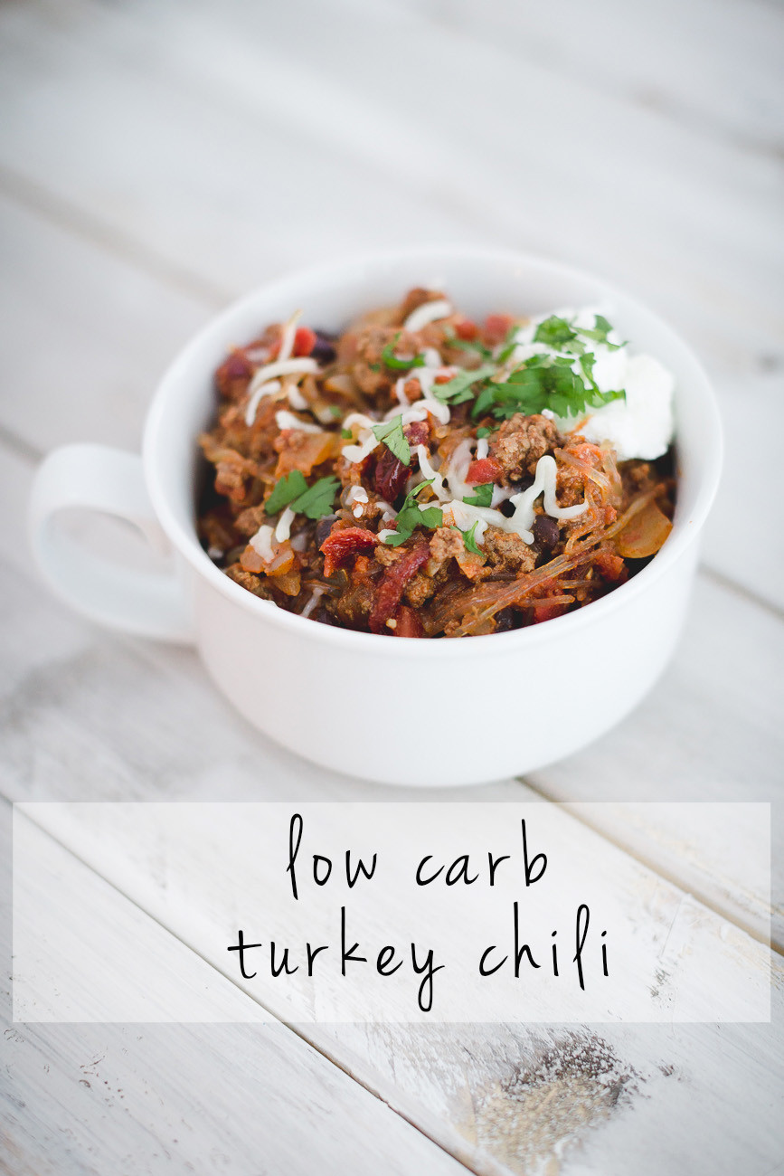 Low Carb Ground Turkey Recipes  Low Carb Turkey Chili Recipe