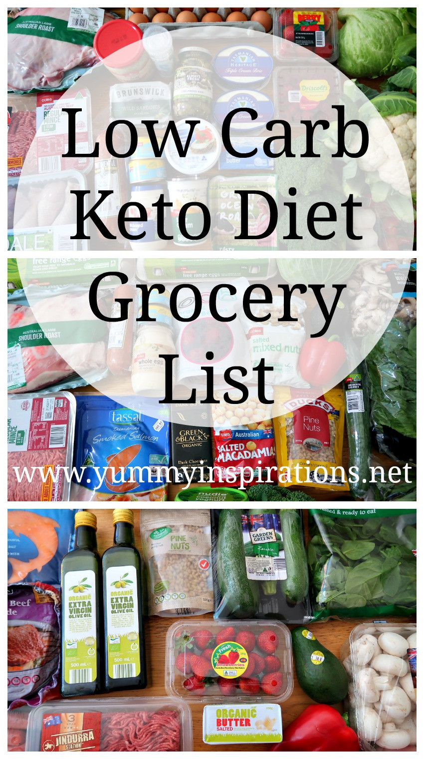 Low Carb Keto Diet  Low Carb Grocery List Ketogenic Diet Friendly Foods