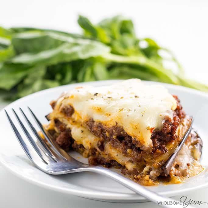 Low Carb Lasagna Noodles  Low Carb Eggplant Lasagna Recipe VIDEO