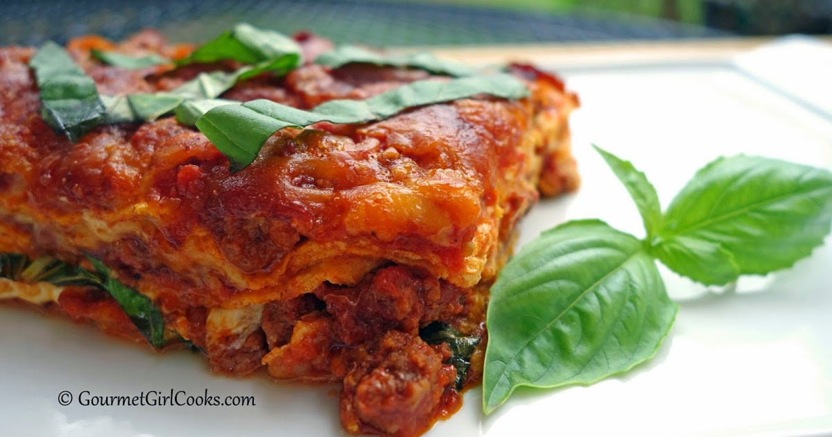Low Carb Lasagna Noodles  Gourmet Girl Cooks Low Carb Lasagna w Grain Free Noodles
