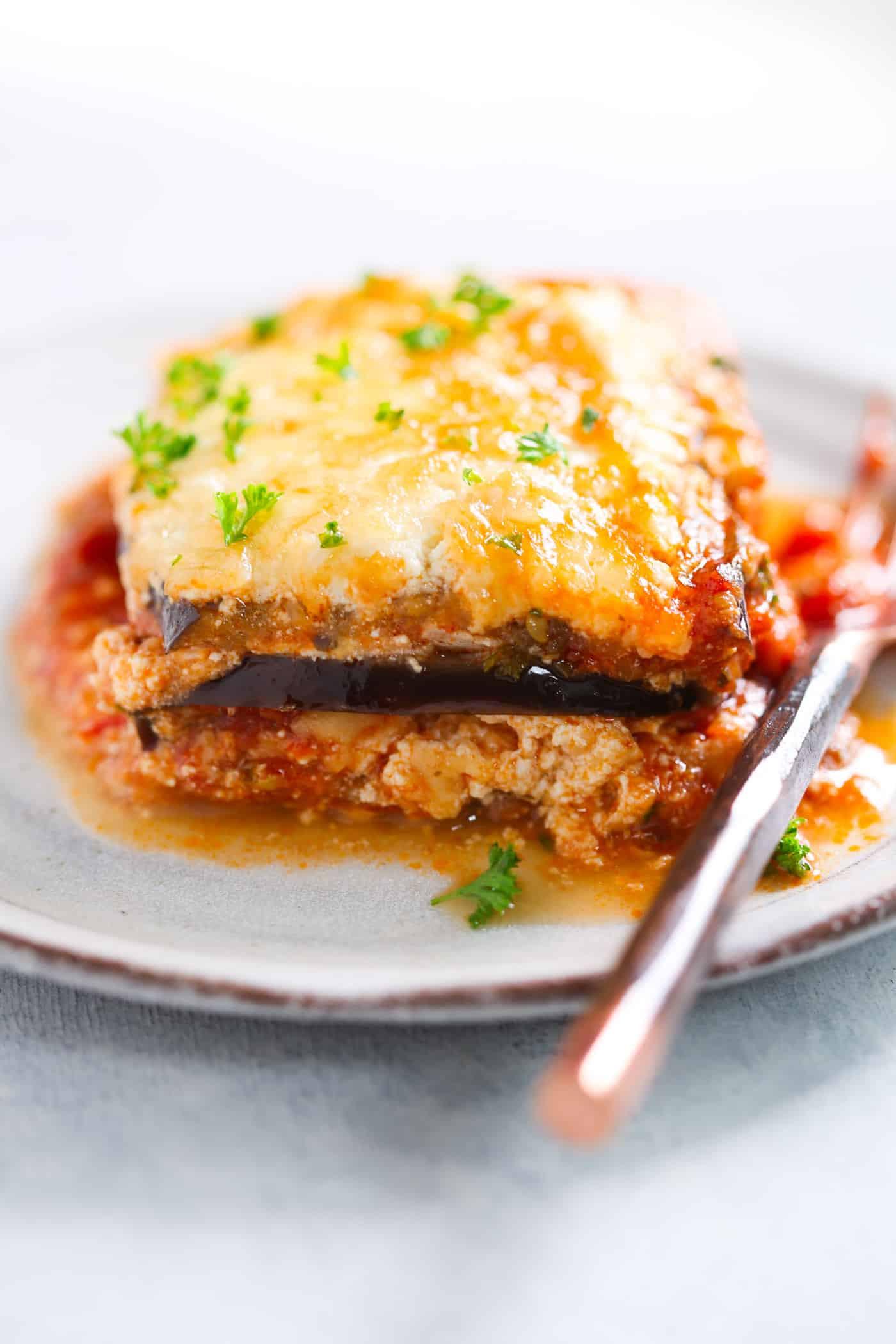 Low Carb Lasagna Noodles  Low carb Eggplant Lasagna Recipe Primavera Kitchen