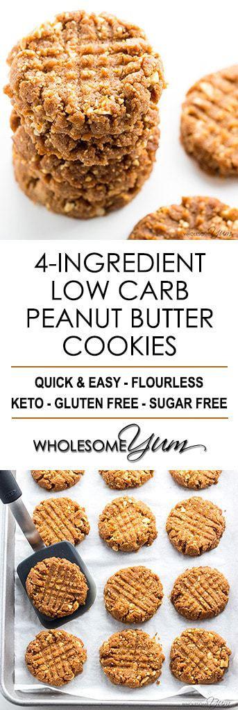 Low Carb Low Sugar Recipes  sugar free low carb peanut butter cookies