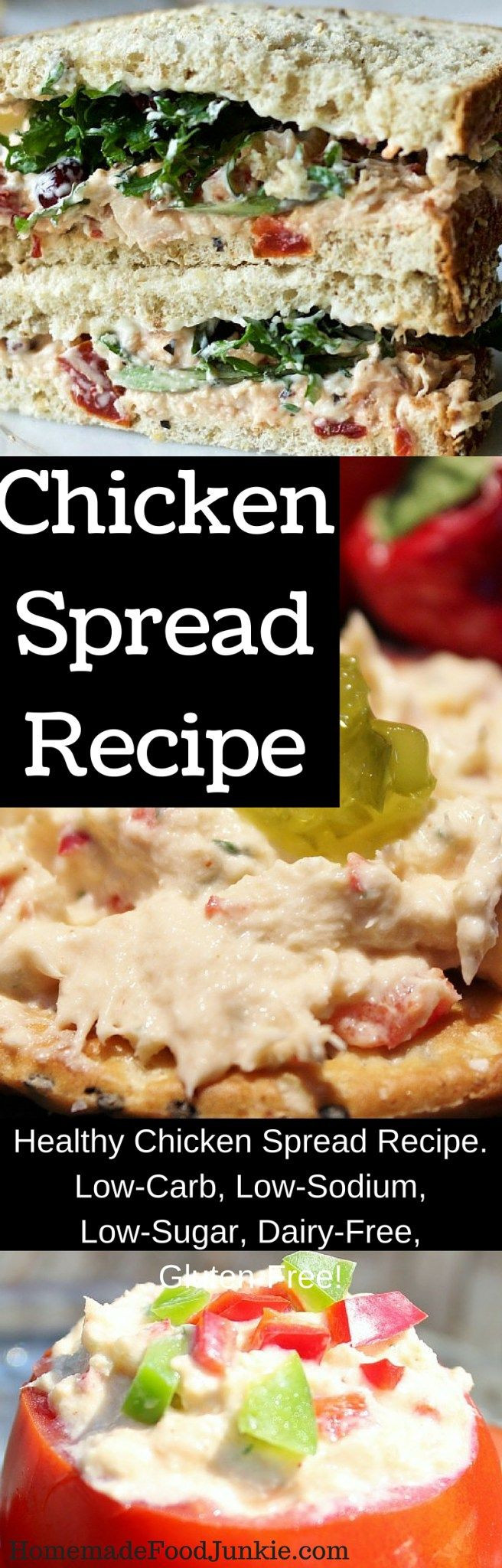 Low Carb Low Sugar Recipes  Healthy chicken spread recipe Low Carb Low Sodium Low