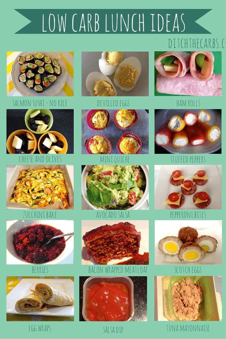 Low Carb Lunch Recipes  Healthy low carb packed lunch ideas cause of diabetes