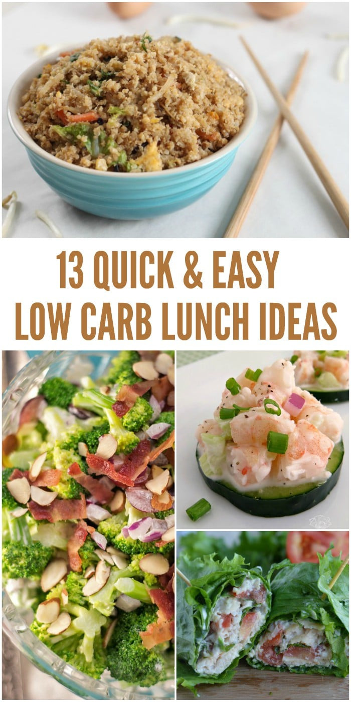 Low Carb Lunch Recipes  13 Easy Low Carb Lunch Ideas That Don t Take a Lot of Prep