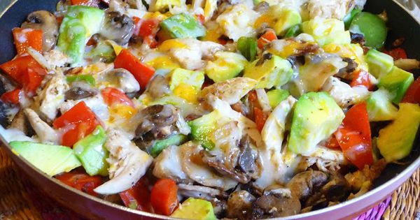 Low Carb Main Dishes  CHICKEN VEGETABLE MELT SPLENDID LOW CARBING BY JENNIFER