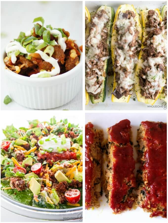 Low Carb Meals With Ground Beef  50 Ground Beef Recipes Low Carb and Healthy Recipe Roundup