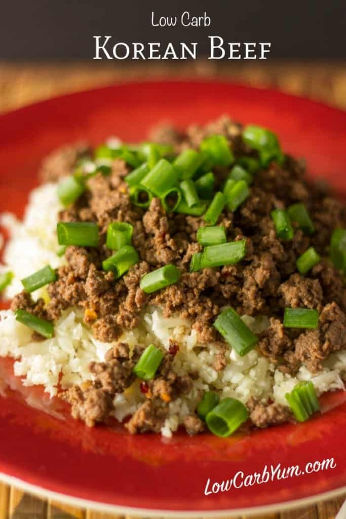 Low Carb Meals With Ground Beef  Korean Beef Paleo and Low Carb