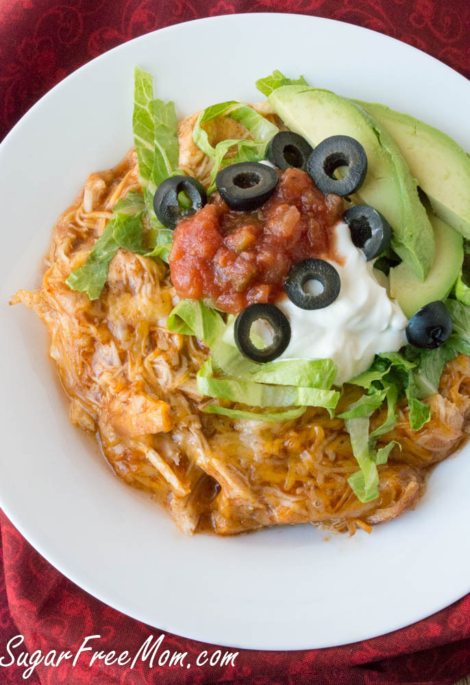 Low Carb Mexican Chicken Casserole  Chicken Enchilada Cauliflower Casserole Low Carb and