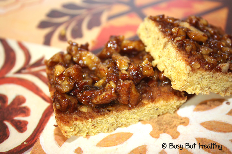 Low Carb Pecan Pie  Low Carb Pecan Pie Bars Busy But Healthy