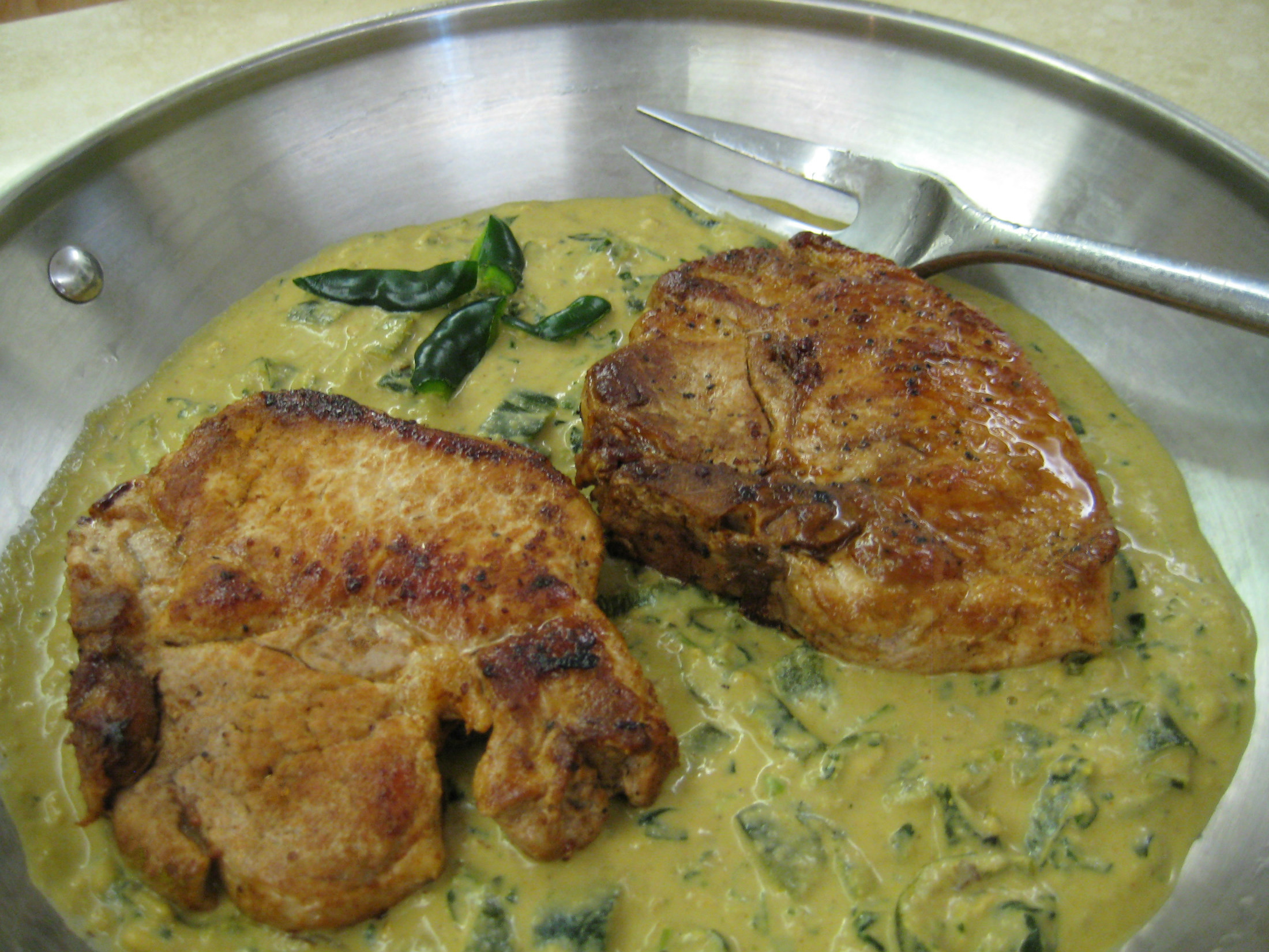 Low Carb Pork Chop Recipes  Pork Chops with Roasted Poblano Gravy