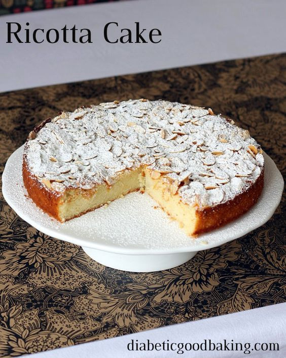 Low Carb Ricotta Dessert  Cakes Almond flour and Amazing cakes on Pinterest