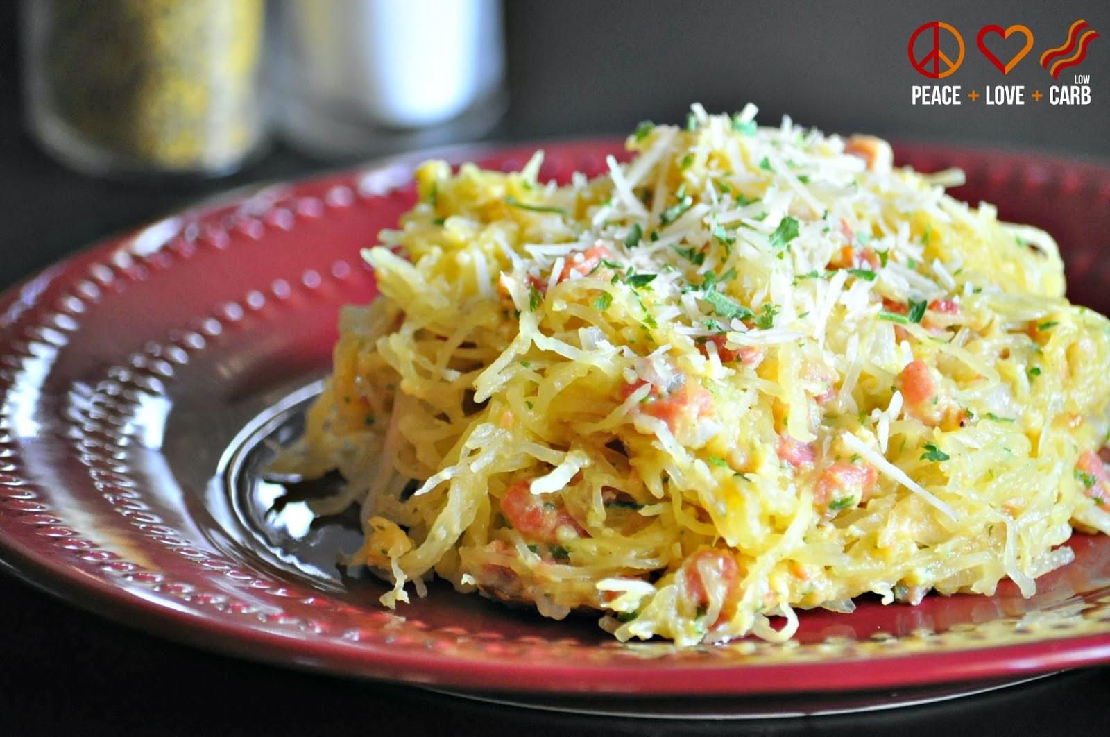 Low Carb Spaghetti Squash Recipes  Low Carb Pasta Carbonara