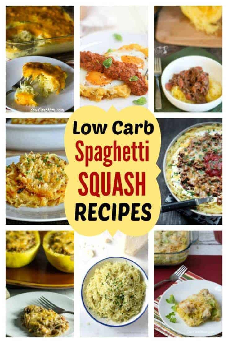 Low Carb Spaghetti Squash Recipes  Low Carb Spaghetti Squash Recipes for Keto Diet