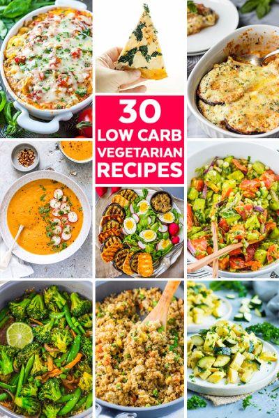 Low Carb Vegetarian Dinner  Easy Ve arian Pasta Recipe 30 Minute Meal