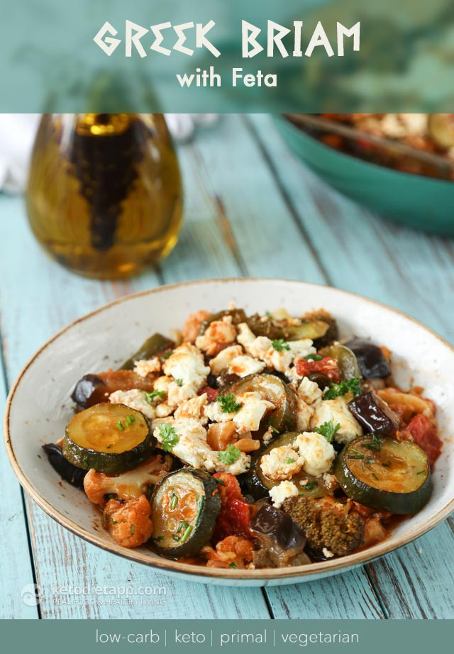 Low Carb Vegetarian Dinner  Low Carb Ve arian Greek Briam