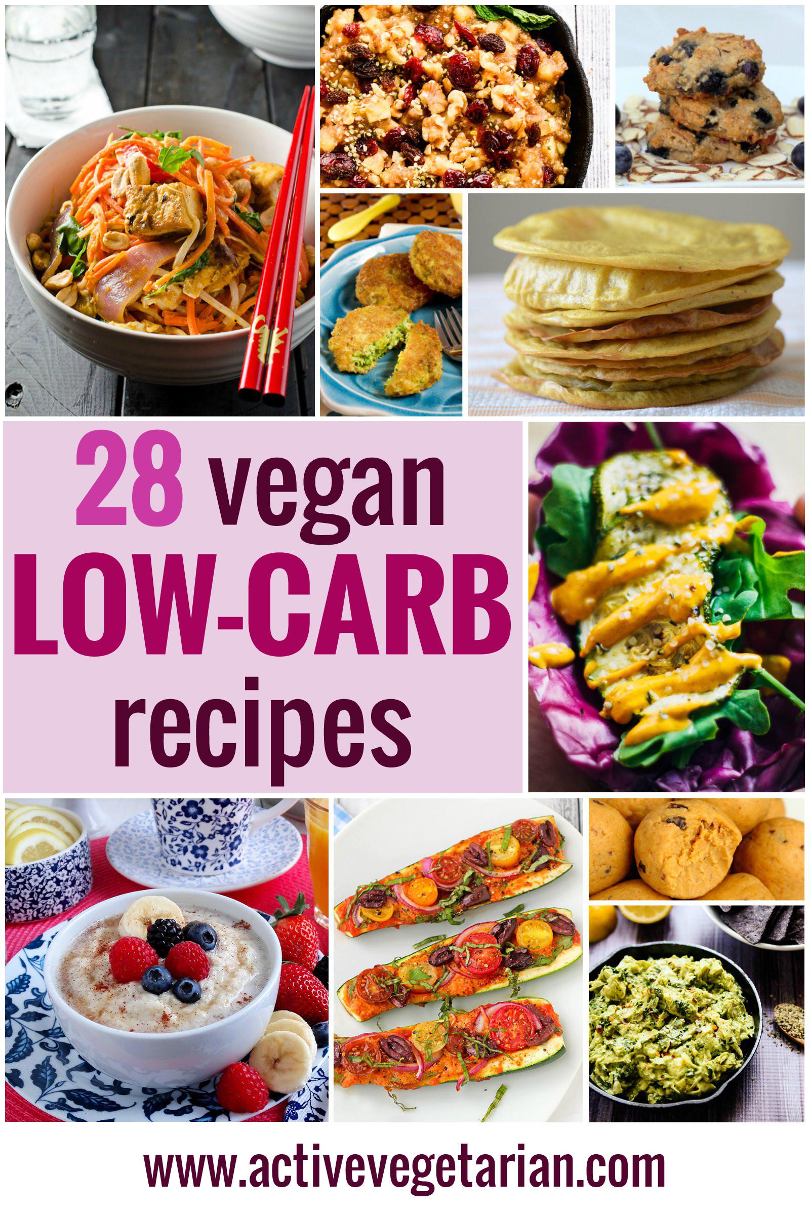 Low Carb Vegetarian Dinner  Recipe Round Up – 28 Low Carb Vegan Recipes