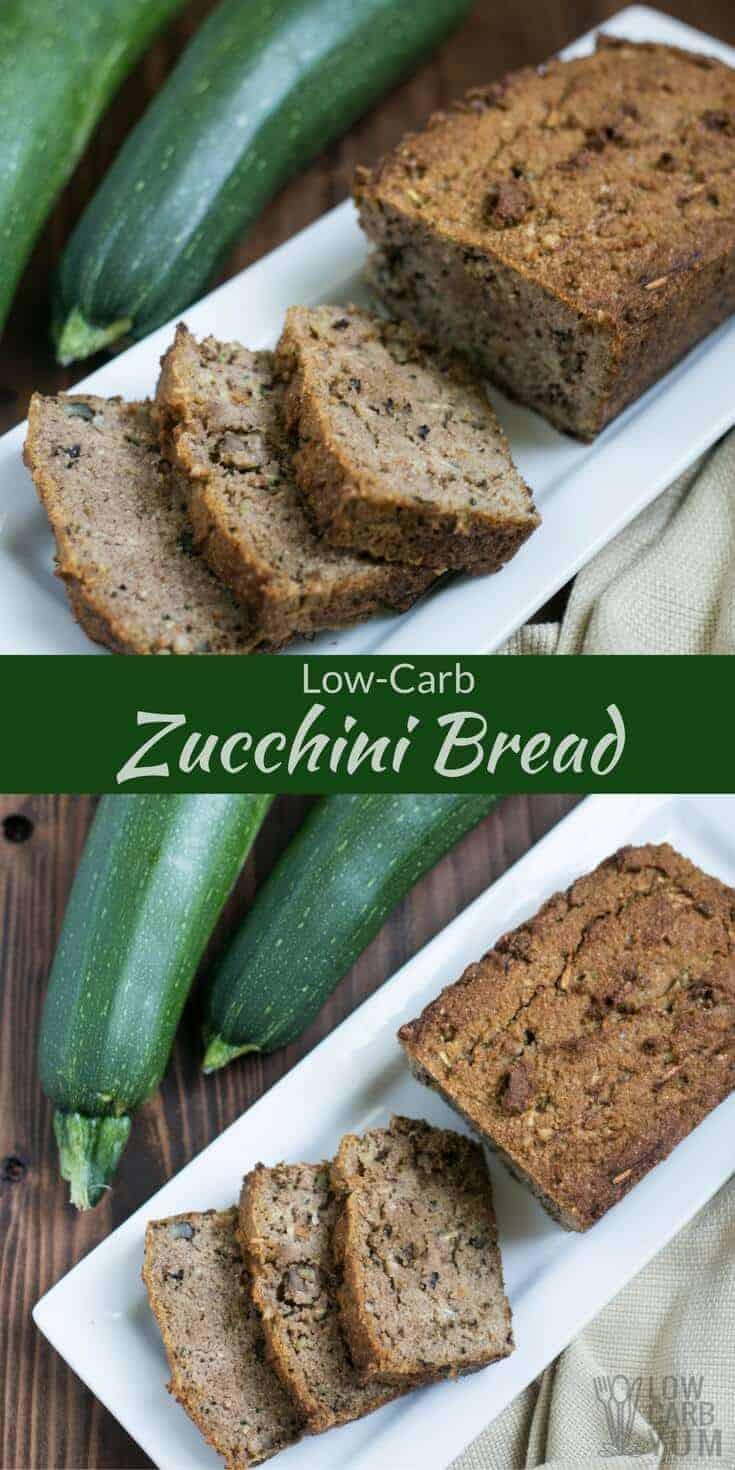 Low Carb Zucchini Bread  Low Carb Zucchini Bread Gluten Free
