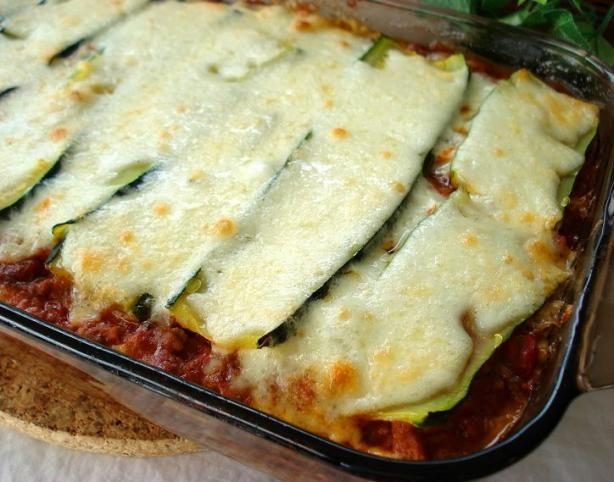 Low Carb Zucchini Lasagna  Zucchini Lasagna Lasagne Low Carb Recipe