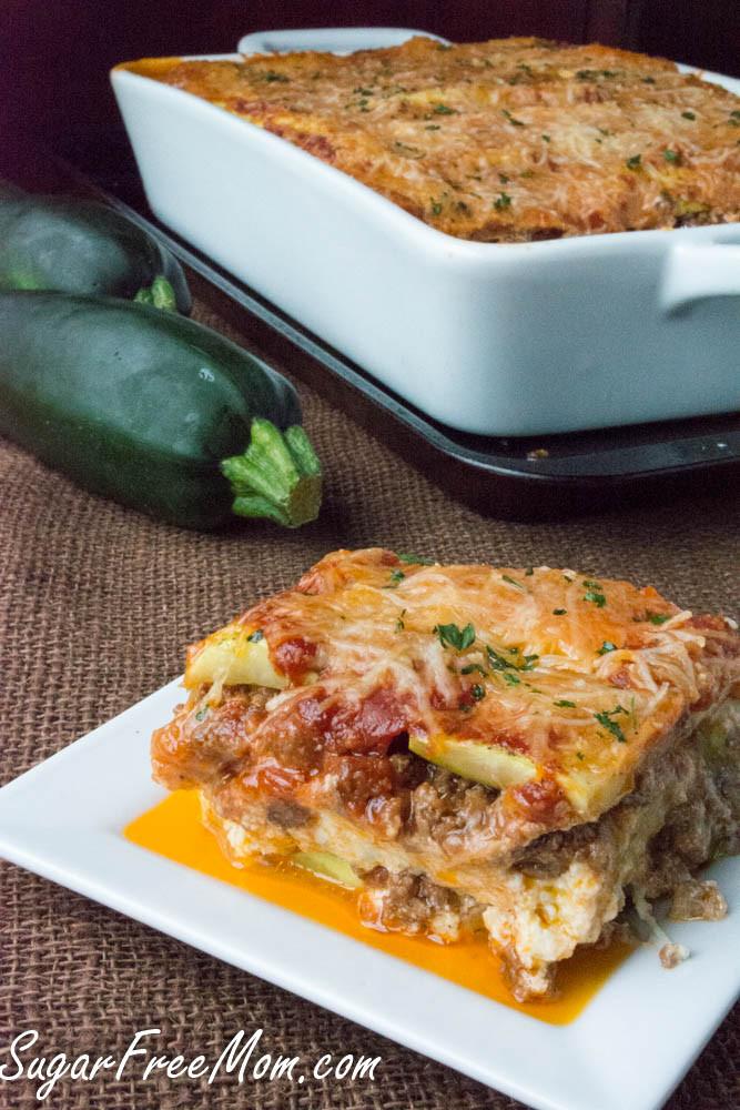 Low Carb Zucchini Lasagna  Low Carb Grain Free Zucchini Lasagna