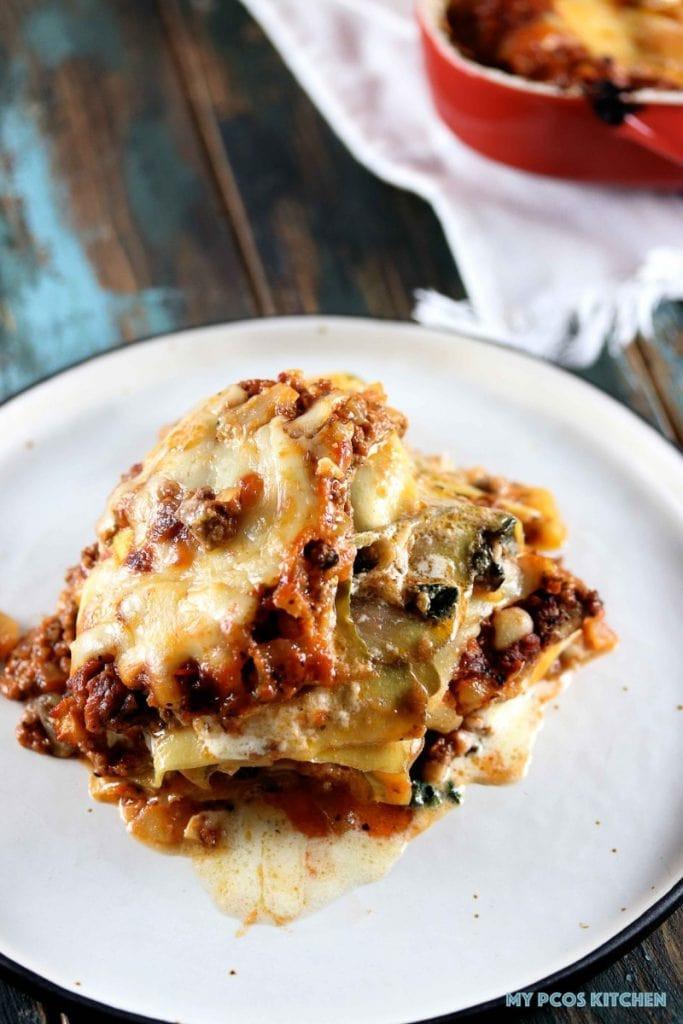 Low Carb Zucchini Lasagna  Low Carb Zucchini Lasagna Gluten free & Sugar free My