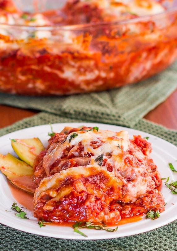 Low Carb Zucchini Lasagna  Zucchini Lasagna Jo Cooks