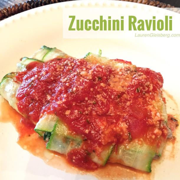 Low Carb Zucchini Recipes  HEALTHY LOW CARB ZUCCHINI RAVIOLI RECIPE Lauren Gleisberg