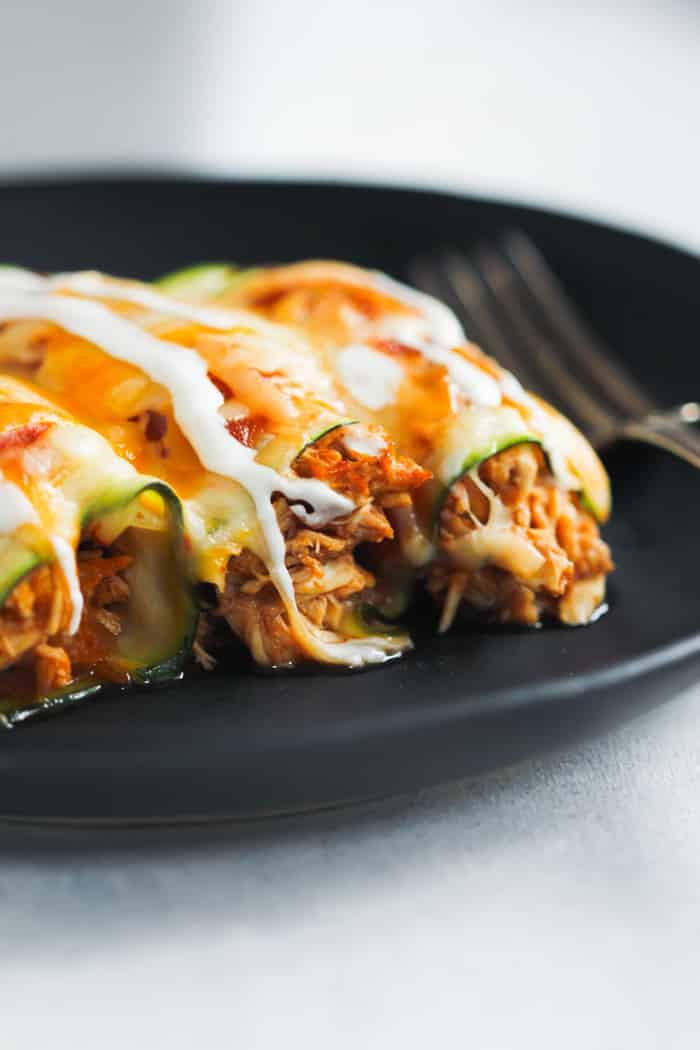 Low Carb Zucchini Recipes  Low Carb Chicken Zucchini Enchilada Primavera Kitchen