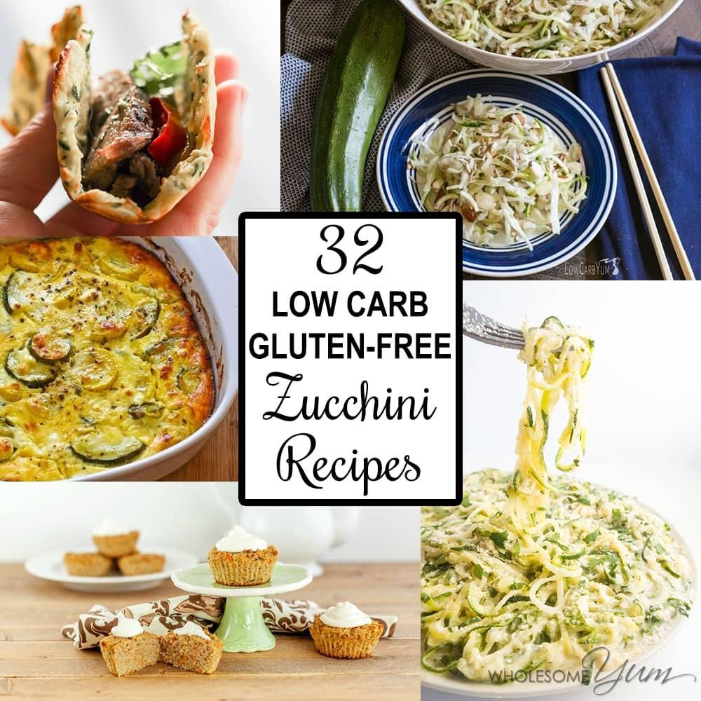 Low Carb Zucchini Recipes  32 Low Carb Gluten free Zucchini Recipes Roundup