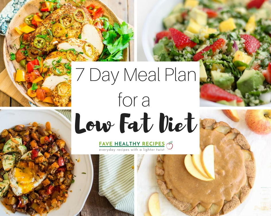 Low Cholesterol Dinners  7 Day Meal Plan for a Low Fat Diet