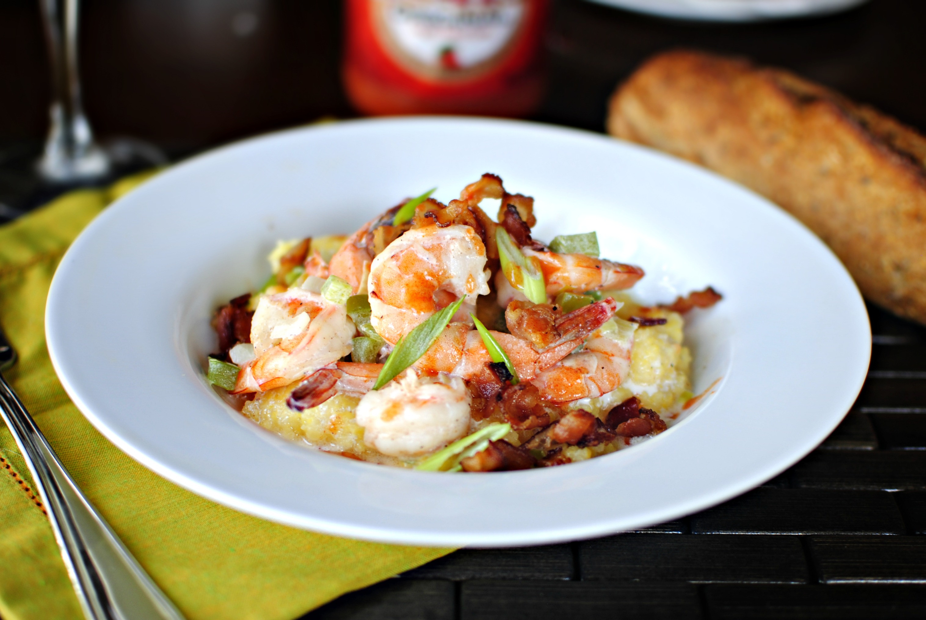Low Country Shrimp And Grits  Simply Scratch Low country Shrimp and Grits from Jenna