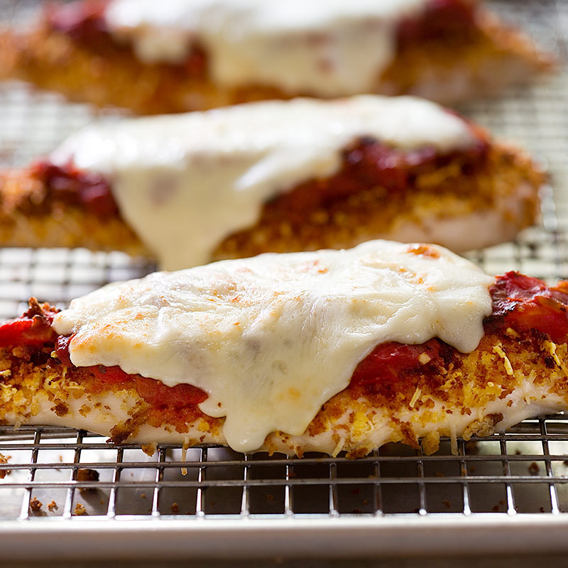 Low Fat Chicken Recipes  Low Fat Chicken Parmesan for Two