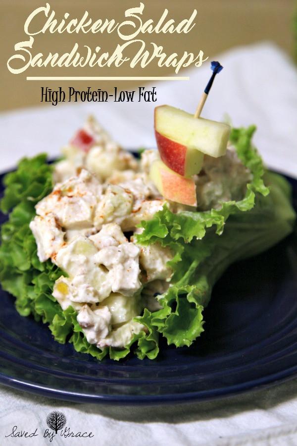 Low Fat Chicken Salad  Low Fat Protein Rich Chicken Salad Sandwich Wraps