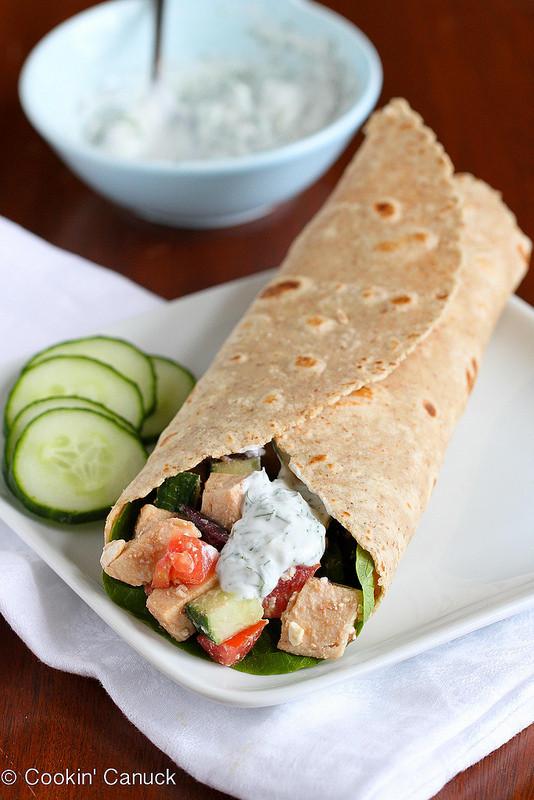 Low Fat Chicken Salad  Low Fat Greek Chicken Salad Wrap Recipe