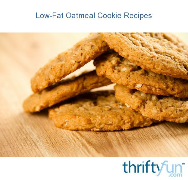 Low Fat Cookie Recipes  oatmeal cookies fancy1