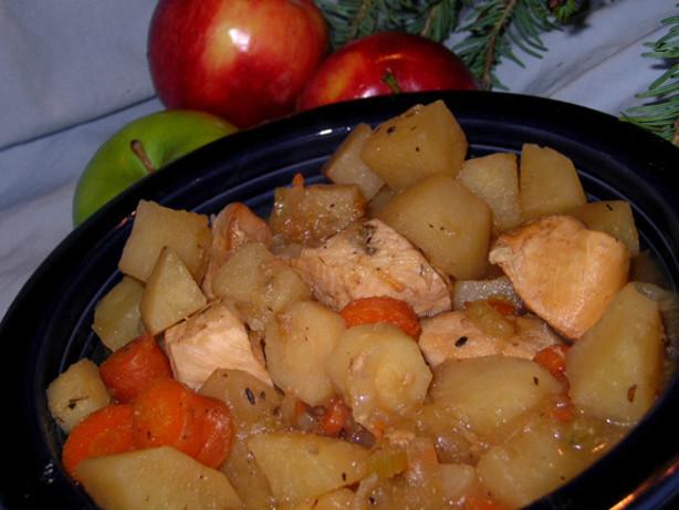 Low Fat Crock Pot Recipes  Crock Pot Apple Chicken Stew Low Fat Recipe Food
