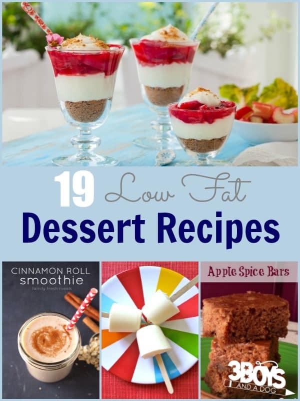 Low Fat Dessert Recipes  Low Fat Dessert Recipes 3 Boys and a Dog – 3 Boys and a Dog