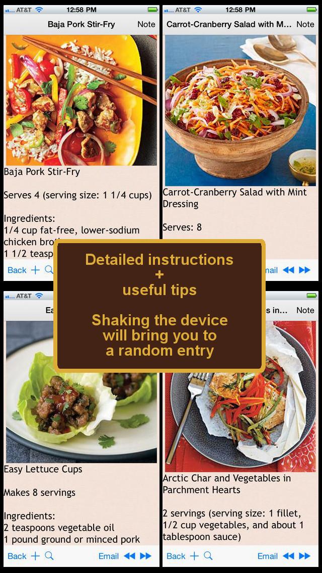 Low Fat Diet Recipes  400 Ultra Low Fat Diet Recipe ios