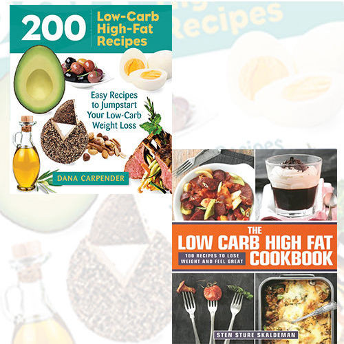 Low Fat Diet Recipes  Low Carb Fat Diet Recipe 2 Books Collection Set Pack 200