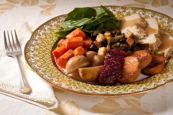 Low Sodium Dinner  Thanksgiving dinner for two Slow cooker