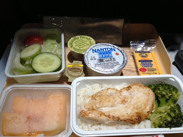 Low Sodium Dinner  What's an airline no salt low salt meal like – The No