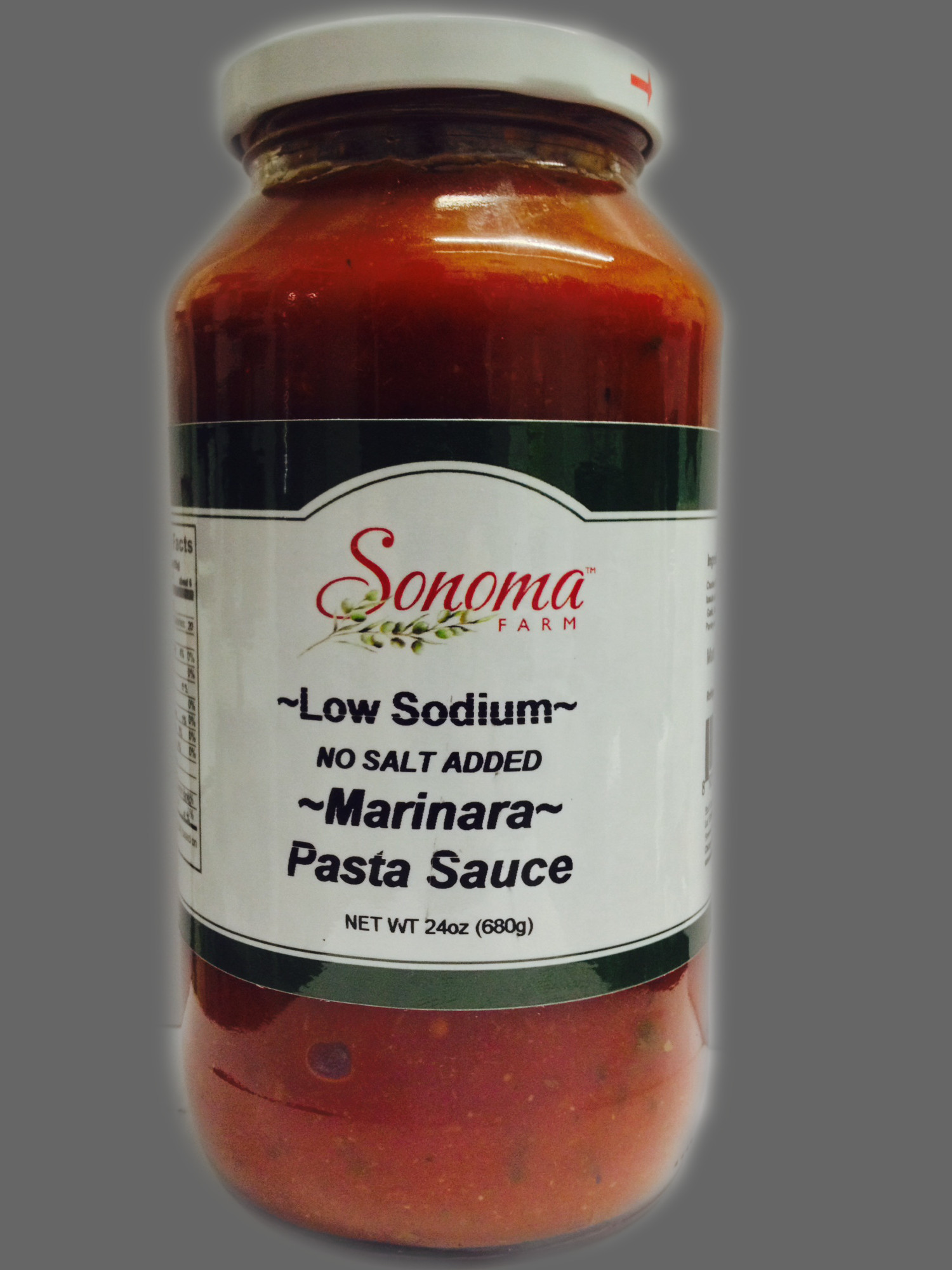 Low Sodium Spaghetti Sauce  Marinara Pasta Sauce Low Sodium 24oz Sonoma Farm