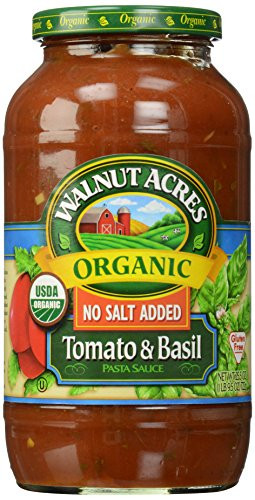 Low Sodium Spaghetti Sauce  Walnut Acres Walnut Acres Tomato & Basil