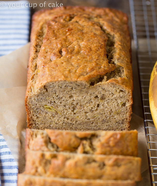 Low Sugar Banana Bread  Skinny Banana Bread Low Sugar Low Fat Your Cup of Cake